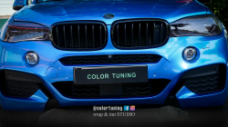 BMW X6 Azure Blue folie de la Oracal serie premium!