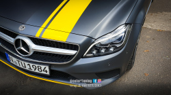 Mercedes CLS 350  inscriptionare dungi galbene