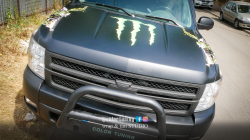 inscriptionare capota motor si aripi monster energy