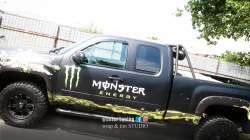 inscriptionare laterala Chevrolet monster energy