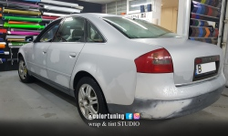 Audi A6 avery silver diamond